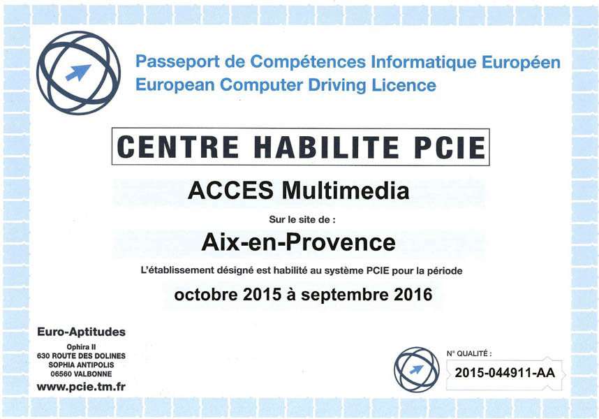 Habilitation PCIE