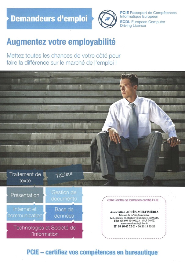 PCIE Passeport de Compétences Informatique Européen demandeurs d'emploi