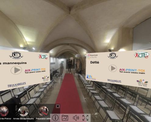 Visite virtuelle défilé Aix-Print-Toi